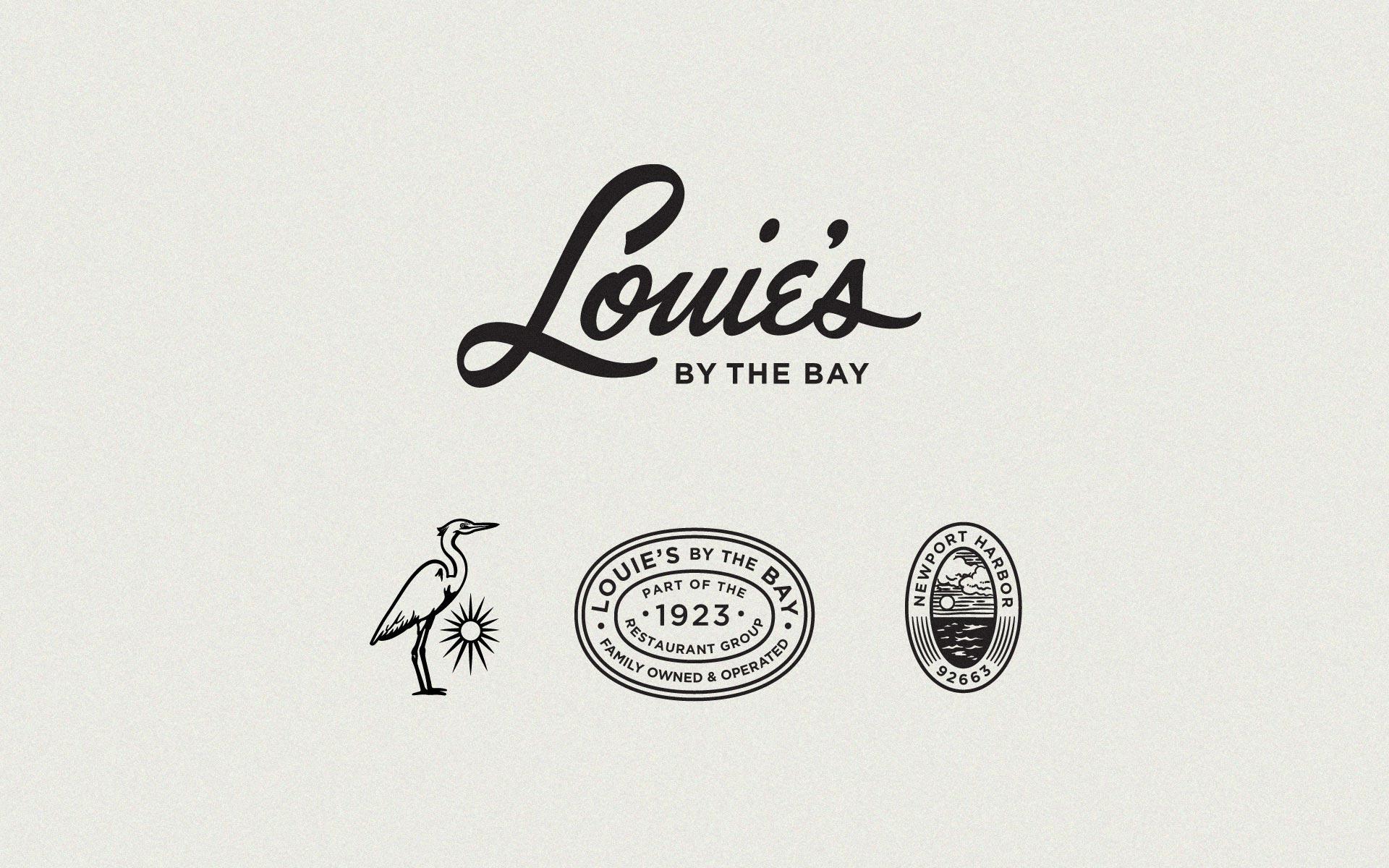 Louie's By The Bay Restaurant Branding - Hoodzpah Design